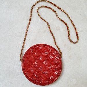 Vintage Red Snakeskin Bag